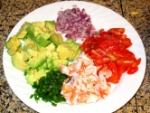 Simple Avocado &amp; Shrimp Salsa